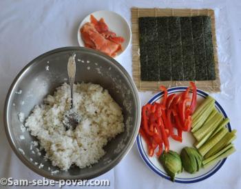 фото продуктов для суши-роллов